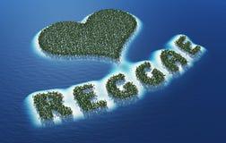 Abstrakcjonistyczny miłości reggae znak ilustracji
