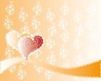 Abstrakcjonistyczny miłości tło Fotografia Royalty Free