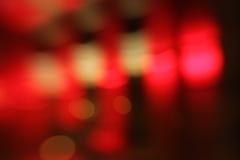 Abstrakcjonistyczny miast świateł plamy mrugania tło Fotografia Stock