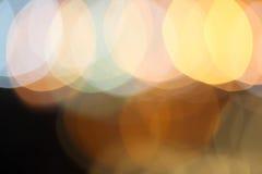Abstrakcjonistyczny miast świateł plamy mrugania tło Obraz Royalty Free