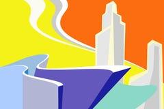 abstrakcjonistyczny miasto Zdjęcie Stock