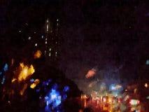 Abstrakcjonistyczny miasto ruch drogowy, cyfrowa sztuka Zdjęcie Stock