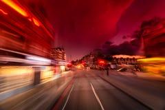 abstrakcjonistyczny miasto zaświeca noc Fotografia Stock