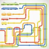Abstrakcjonistyczny miastowego transportu plan royalty ilustracja