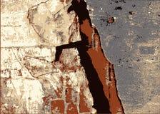 Abstrakcjonistyczny miastowy tło z ścianą ilustracja wektor