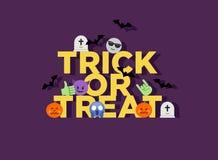 Abstrakcjonistyczny śmieszny stylu Halloween trikowy lub funda mieszkania emoji Zdjęcie Royalty Free