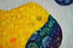 Abstrakcjonistyczny mikroorganizm na kanwie Zdjęcia Royalty Free
