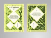 Abstrakcjonistyczny modniś broszurki ulotki projekta wektor ilustracji