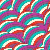 Abstrakcjonistyczny modny geometryczny bezszwowy deseniowy projekt Wektor nowożytny Fotografia Stock