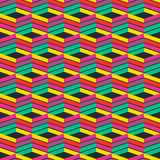 Abstrakcjonistyczny modny geometryczny bezszwowy deseniowy projekt Wektor nowożytny Zdjęcia Royalty Free