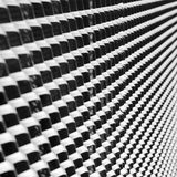 Abstrakcjonistyczny monochromatyczny wizerunek żelazo obsada Zdjęcie Stock