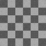 Abstrakcjonistyczny monochromu wzór z mozaiką zniekształcający kwadraty Obrazy Stock