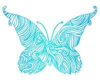 Abstrakcjonistyczny motyl Obrazy Stock