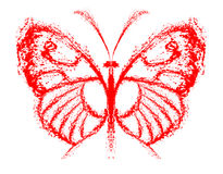 Abstrakcjonistyczny motyl Obraz Royalty Free