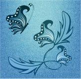 Abstrakcjonistyczny motyl Fotografia Stock