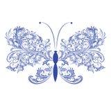 abstrakcjonistyczny motyli kwiecisty Obrazy Royalty Free