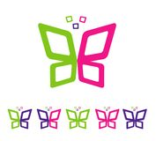 Abstrakcjonistyczny motyli pełny kolor ilustracji