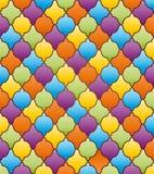 Abstrakcjonistyczny mozaiki tło z ornamentem Obrazy Stock