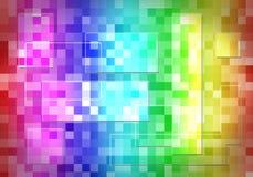 Abstrakcjonistyczny multicolor, światła, mozaiki tło Obraz Stock