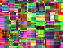 Abstrakcjonistyczny multicolor kreatywnie wzór Obrazy Royalty Free