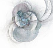 Abstrakcjonistyczny multicolor tło element na bielu Dynamiczna ilustracja krzywy i siatki Szczegółowe fractal grafika royalty ilustracja