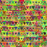 Abstrakcjonistyczny multicolor trójboka wzór Zdjęcie Royalty Free