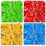 Abstrakcjonistyczny multicolor wzór, tekstura z rozrzuconymi zirytowanymi kształtami/ Zdjęcia Stock