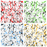 Abstrakcjonistyczny multicolor wzór, tekstura z rozrzuconymi zirytowanymi kształtami/ Obrazy Stock
