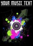 abstrakcjonistyczny muzyczny plakat Obrazy Stock