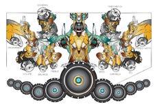 Abstrakcjonistyczny muzyczny tło Obraz Royalty Free