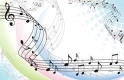 Abstrakcjonistyczny muzyczny tło ilustracja wektor