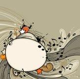 Abstrakcjonistyczny muzyczny tło Obrazy Stock