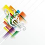 Abstrakcjonistyczny muzyczny tło Fotografia Stock