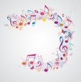 Abstrakcjonistyczny muzyczny tło z notatkami Obrazy Royalty Free