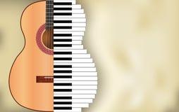 Abstrakcjonistyczny muzyczny tło Obrazy Royalty Free