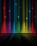 Abstrakcjonistyczny muzyczny tomowy wyrównywacza pojęcia pomysłu tło Zdjęcia Stock