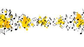 Abstrakcjonistyczny muzykalny tło z notatkami Obrazy Royalty Free