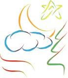 Abstrakcjonistyczny natura logo royalty ilustracja