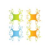 Abstrakcjonistyczny natura logo Obraz Stock