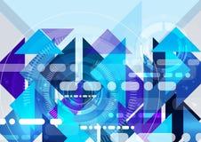Abstrakcjonistyczny naukowy przyszłościowy technologii tło Geometria wielobok Fotografia Stock