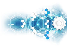 Abstrakcjonistyczny naukowy przyszłościowy technologii tło Geometria wielobok ilustracja wektor