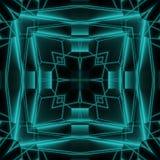 Abstrakcjonistyczny Neonowy Jarzeniowy Geometryczny Dachówkowy projekt Obrazy Stock