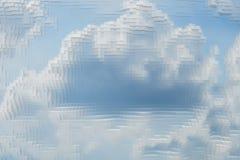 Abstrakcjonistyczny nieba tło extrude sześcian, projekta cloudscape royalty ilustracja