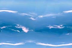 Abstrakcjonistyczny niebiański błękitny bezszwowy wzór Skiey tło Zdjęcia Stock