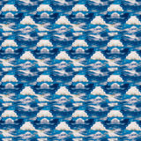 Abstrakcjonistyczny niebiański błękitny bezszwowy wzór Skiey tło Zdjęcia Royalty Free