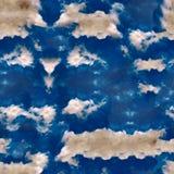 Abstrakcjonistyczny niebiański błękitny bezszwowy wzór Skiey tło Obrazy Royalty Free