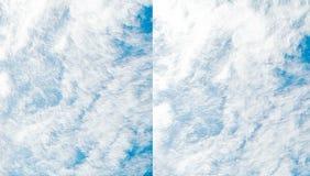 Abstrakcjonistyczny niebieskiego nieba tło Fotografia Royalty Free