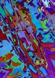 Abstrakcjonistyczny niebieskozielony tło zakrywający z teksturą jaskrawi barwiący przypadkowo rozrzuceni kleksy i punkty ilustracji