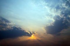 Abstrakcjonistyczny niebo i chmura Zdjęcia Stock