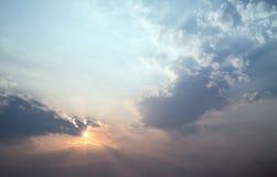 Abstrakcjonistyczny niebo i chmura Fotografia Royalty Free